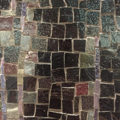 Various colored and sized ceramic tiles