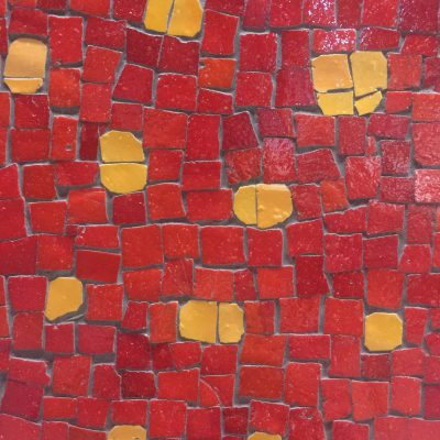 Bright red and yellow tiles