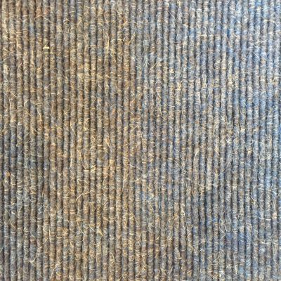 Brown tweed knit into rows