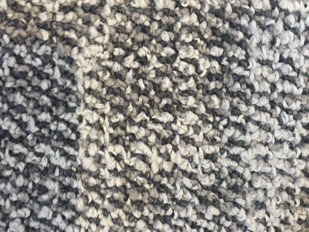 Grey black and white carpet