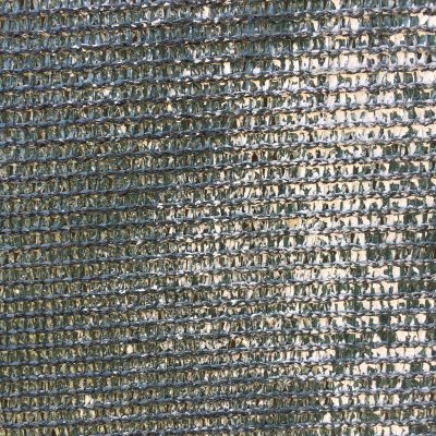 Dark green plastic woven fence fabric