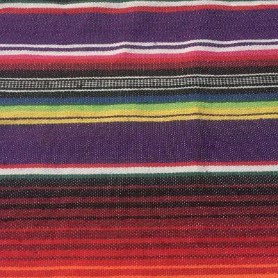 Rainbow bars of color on fabric