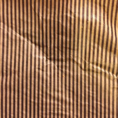 Dark brown printed stripes on paper