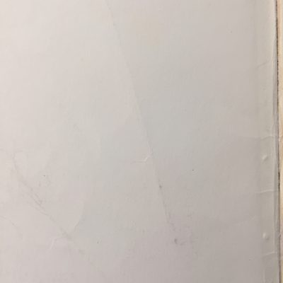Off white book inside cover