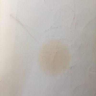 Off white discolored paper
