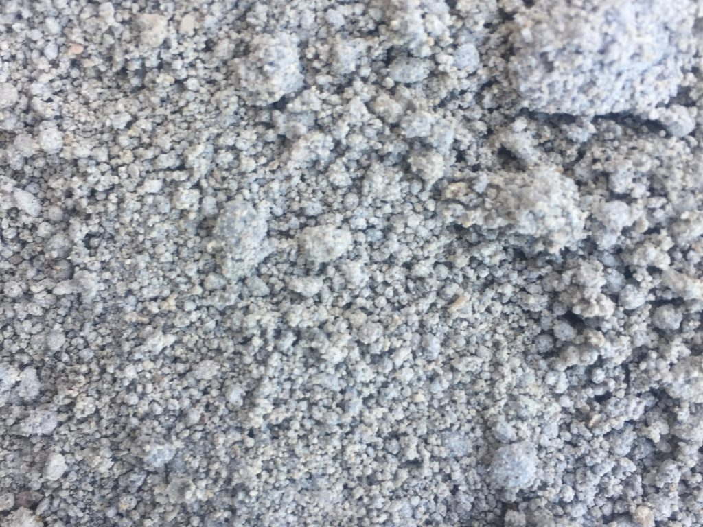 Close up of grey gravel