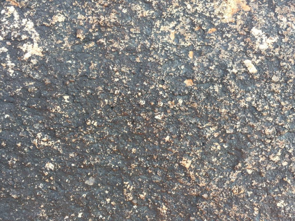 Black and light brown rock