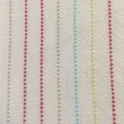 Embroidered cloth with colorful vertical lines