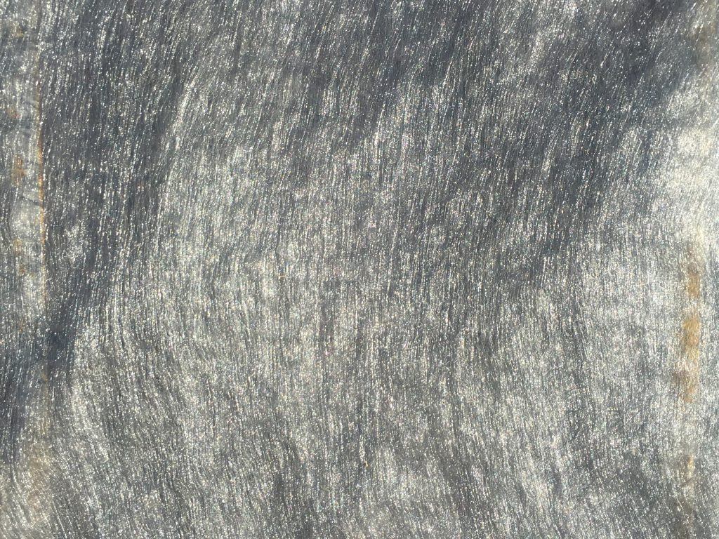 Gray and silver fabric