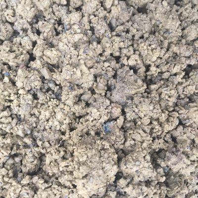 Light brown clumps of dirt