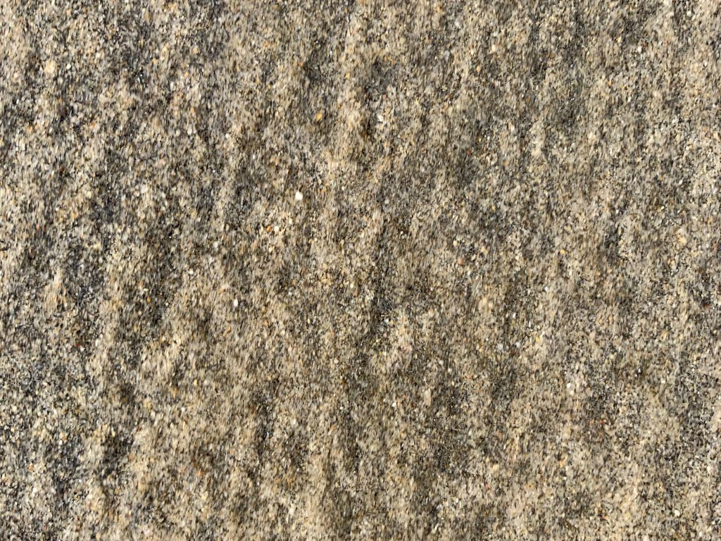 Blotchy black and tan sand grains