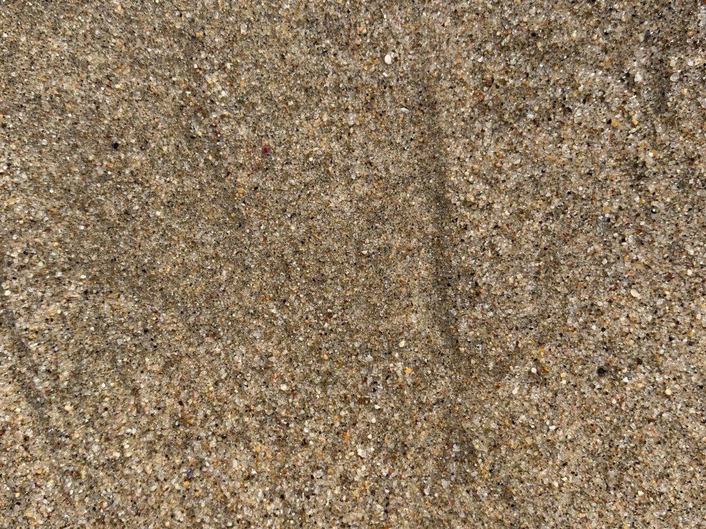 Rich sandy brown beach