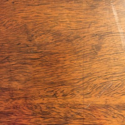 Golden brown wood table