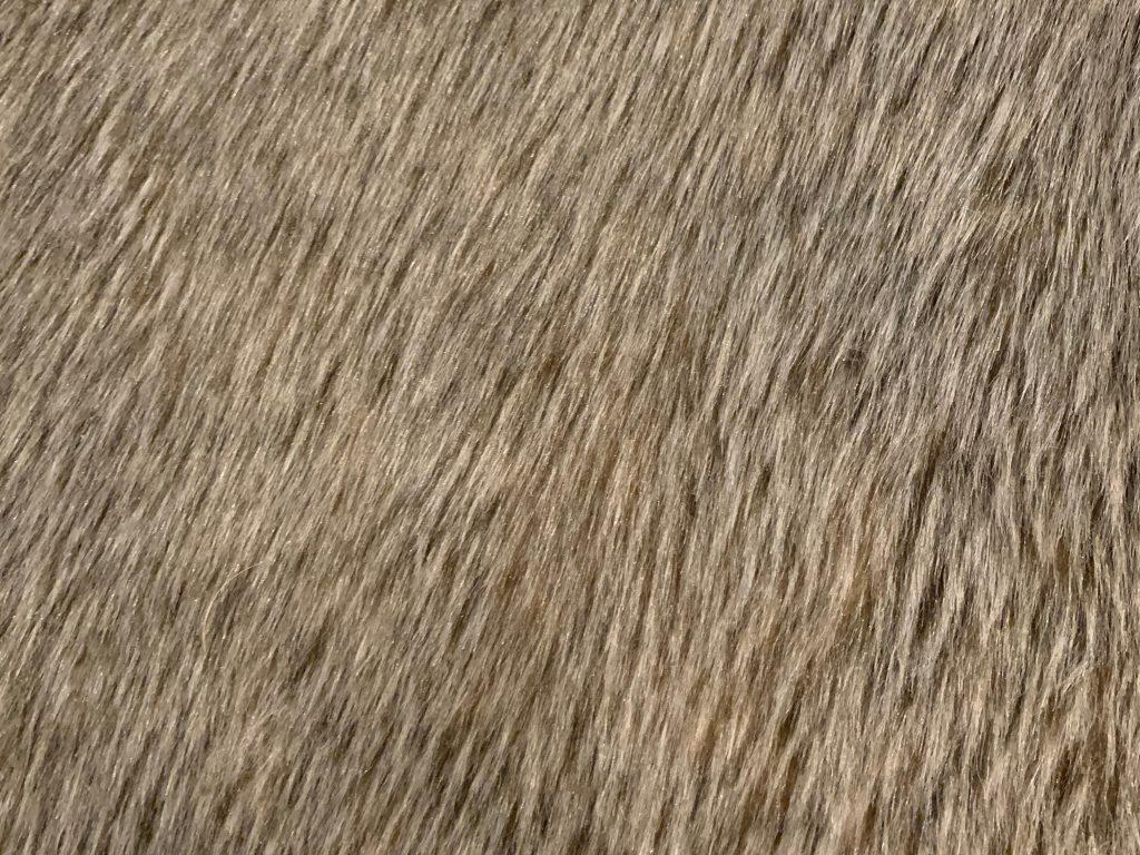 Golden brown long threaded carpet