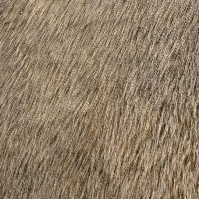 Golden brown long threaded carpet