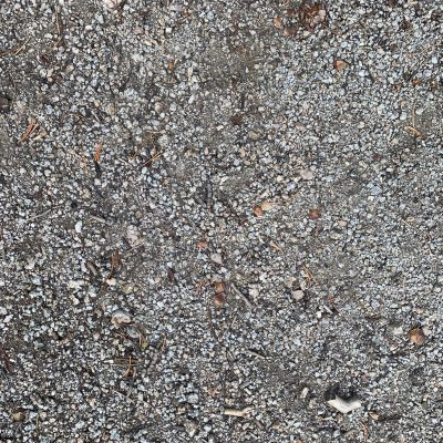 Gravel with bits of debris