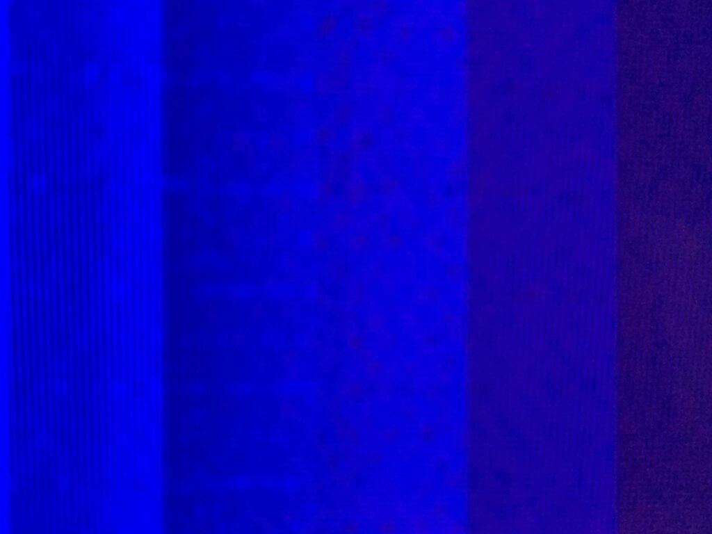 Close up of digital blue columns