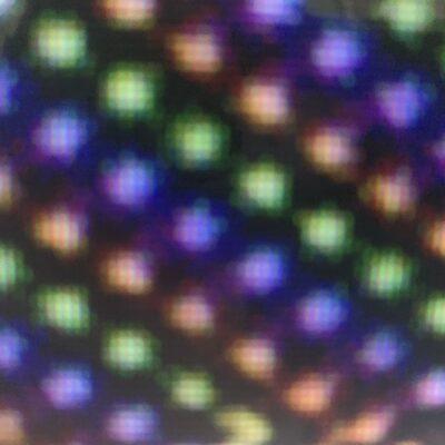 Colorful diagonal circles on black