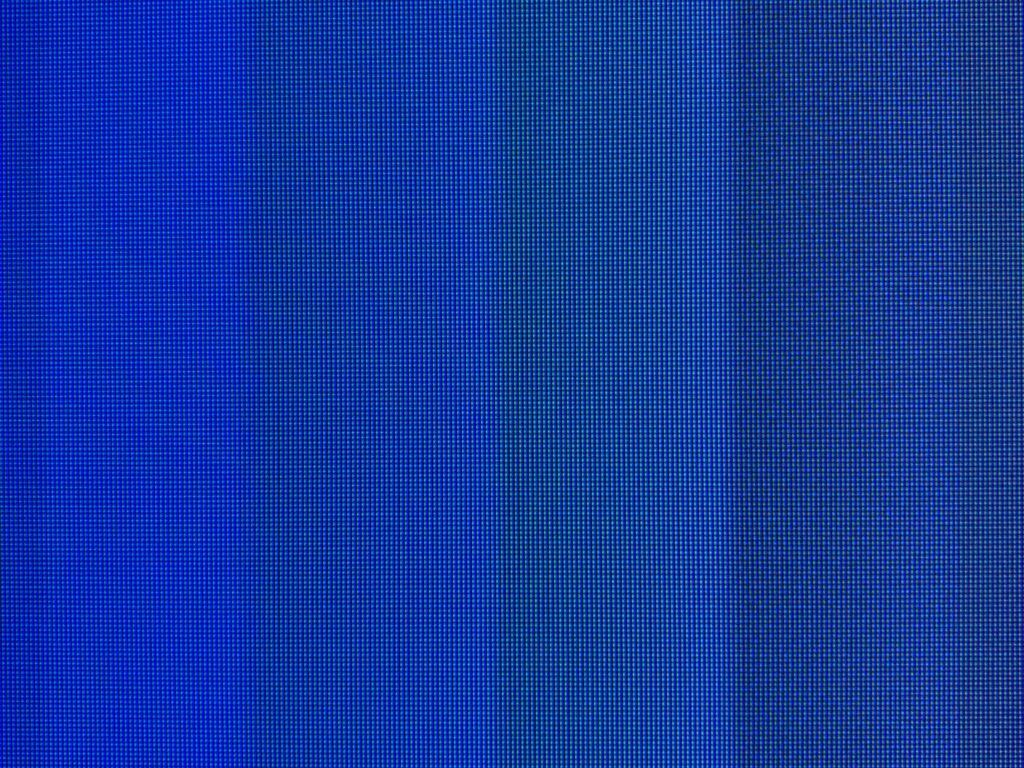 Columns of blue pixels