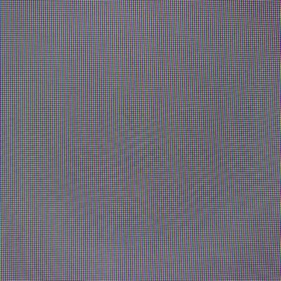 Grid of gray pixels with chromatic aberration