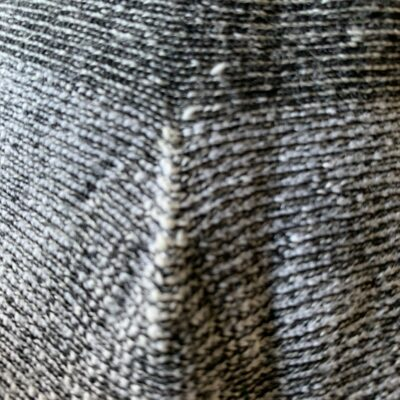 Black and white wool fabric close up