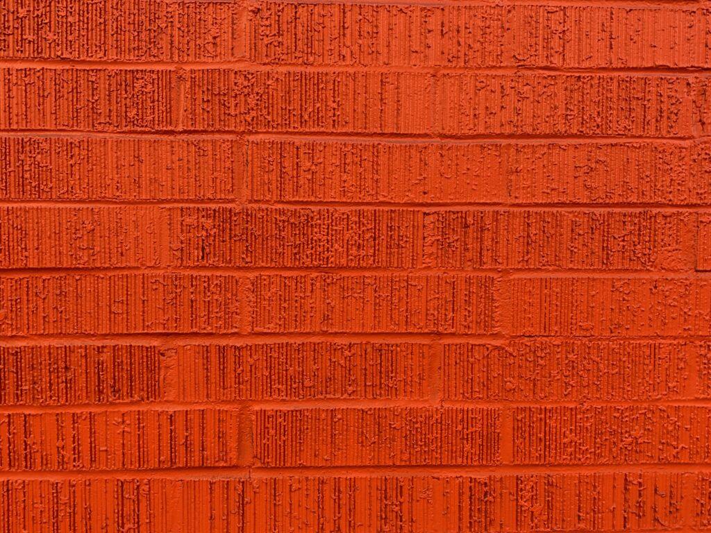 Bright red brick wall
