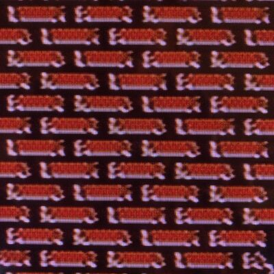 Pixelated red bricks from NES video game bitmap
