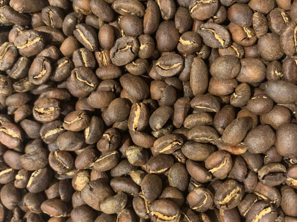 Pile of medium roasted coffee beans