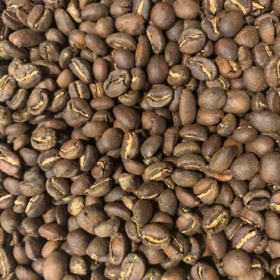Pile of medium roasted coffee beans