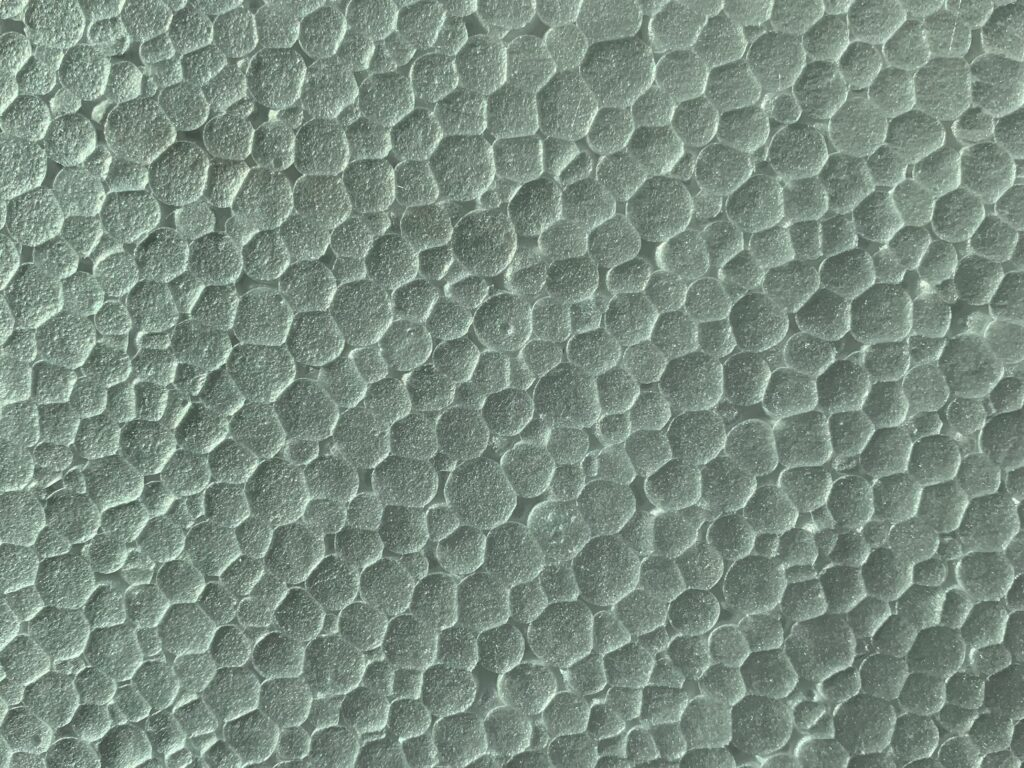 Honeycomb pattern from foam packaging