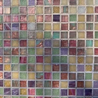 Large grid of colorful tiles
