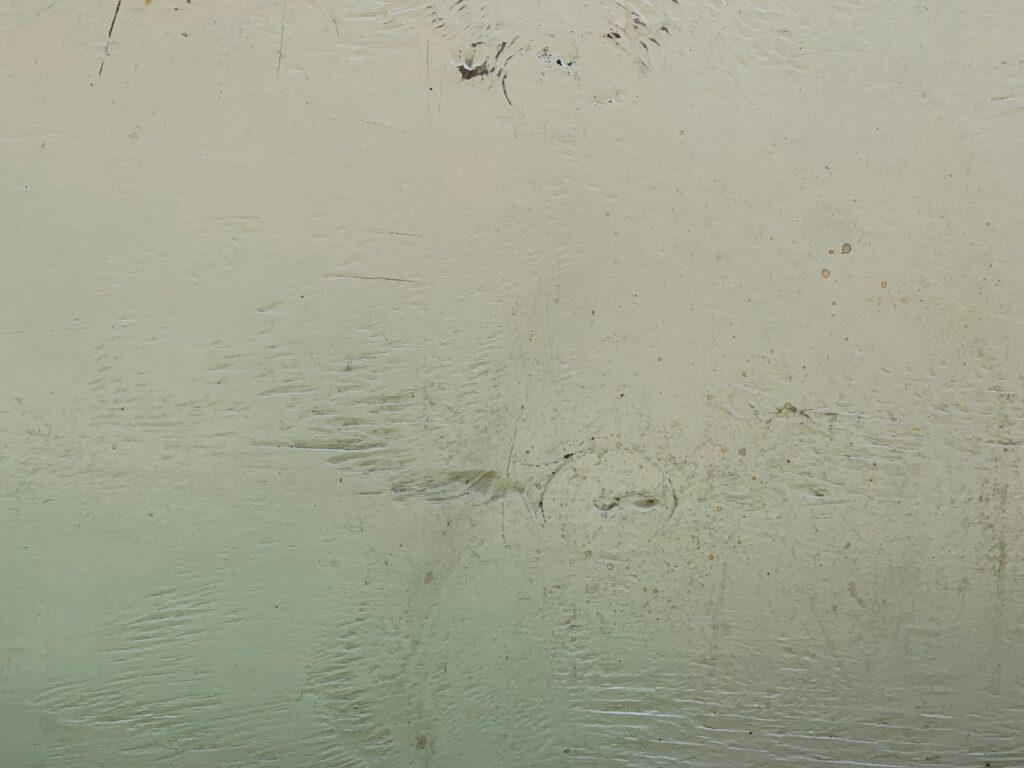 Off white/greenish paint on wood texture