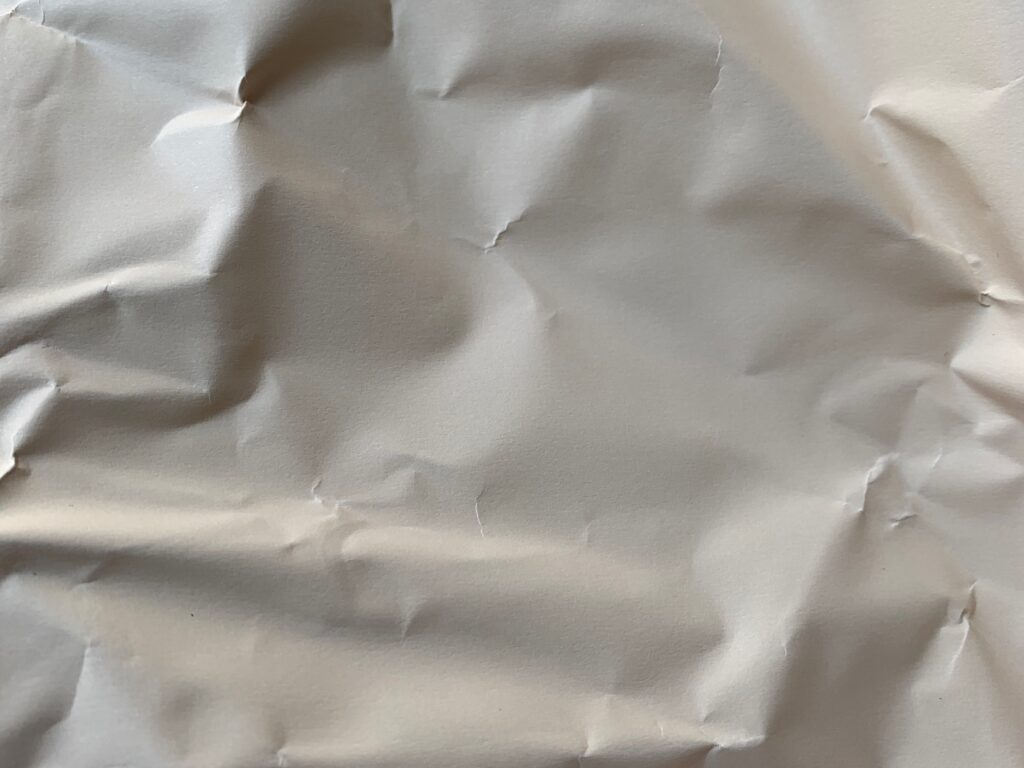 Off white thick wrinkled paper