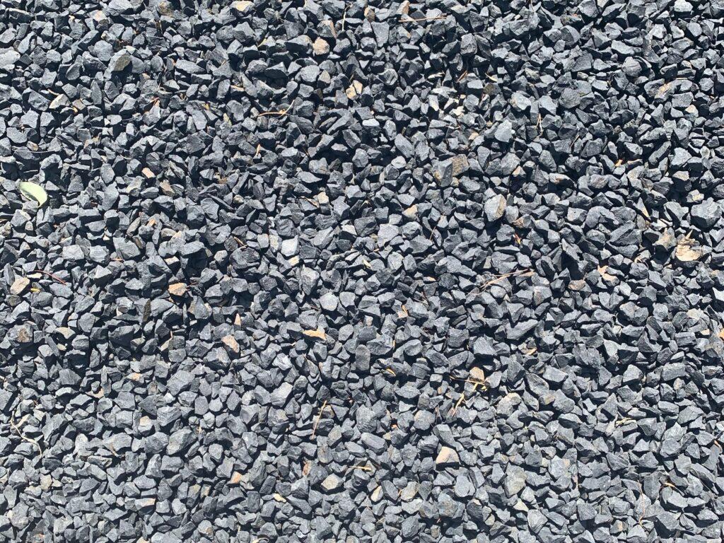 Even and flat gray gravel walkway